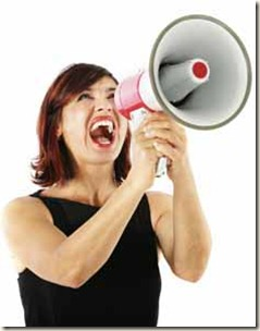 shouting woman won't shut up